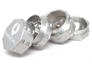Small 4pc Grinder - Brushed Silver