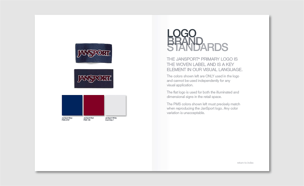 JanSport Brand Standards Inside Page