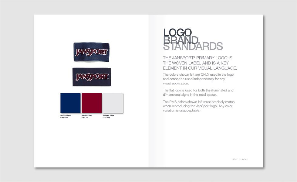 JanSport Brand Standards Inside Page