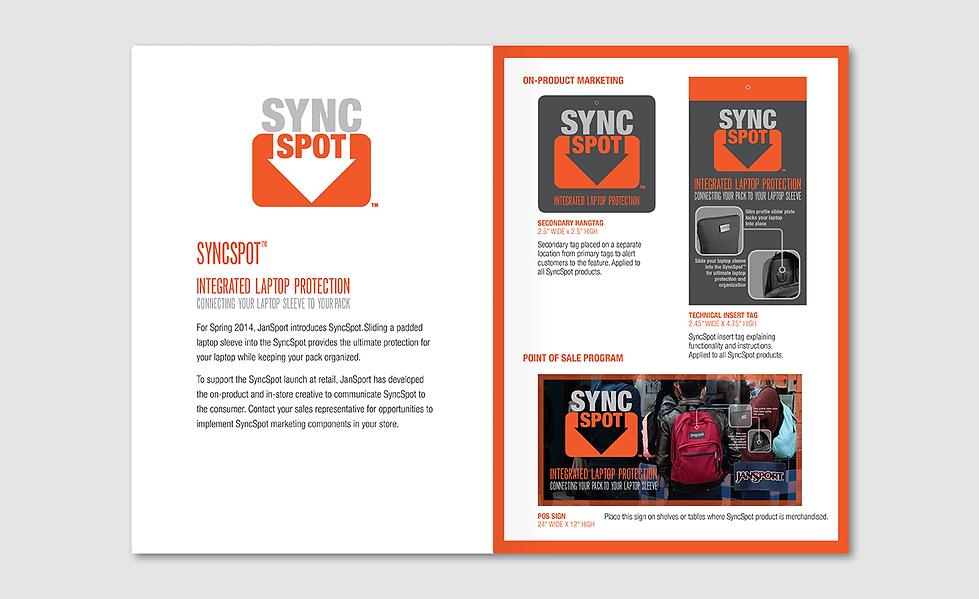 JanSport Sync Spot usage guide