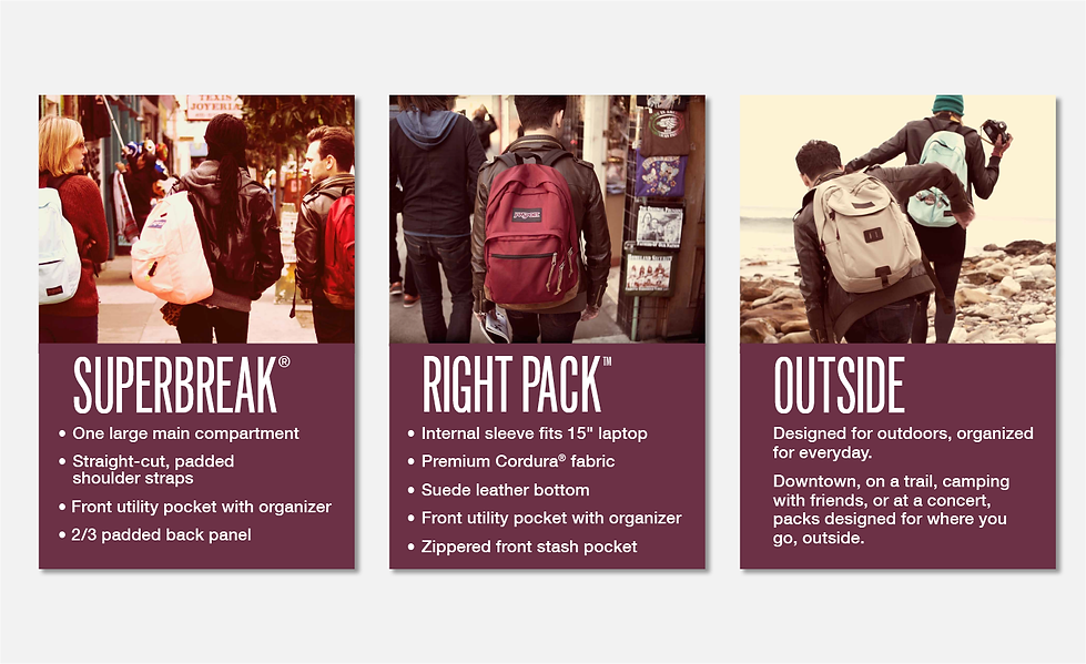 JanSport Harvard POS signs