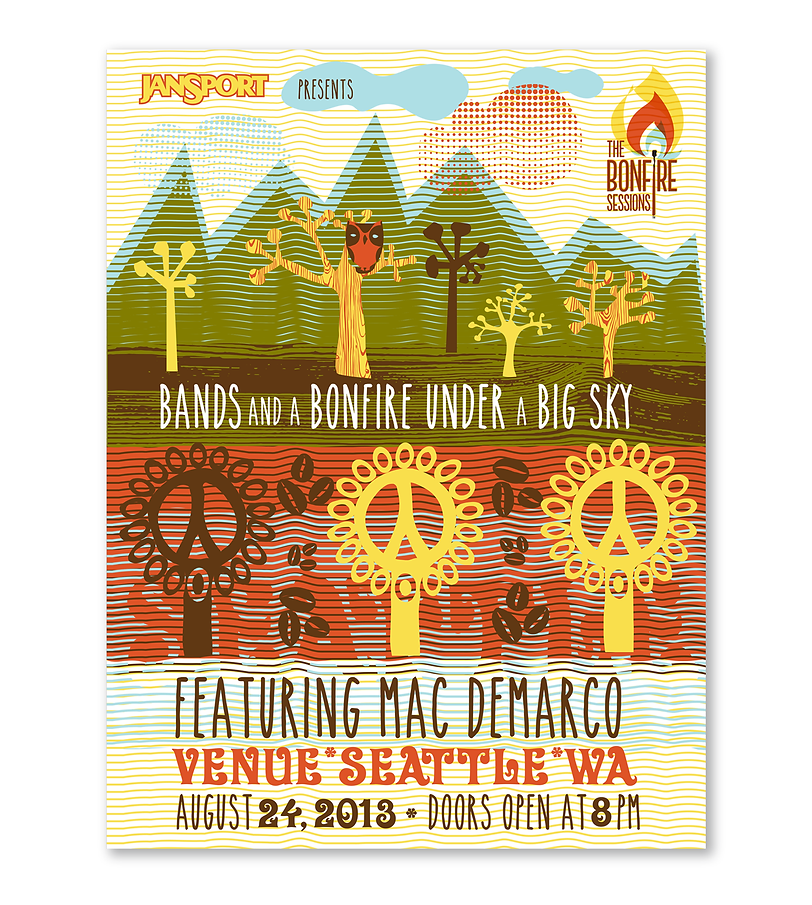 JanSport BonFire Poster concept