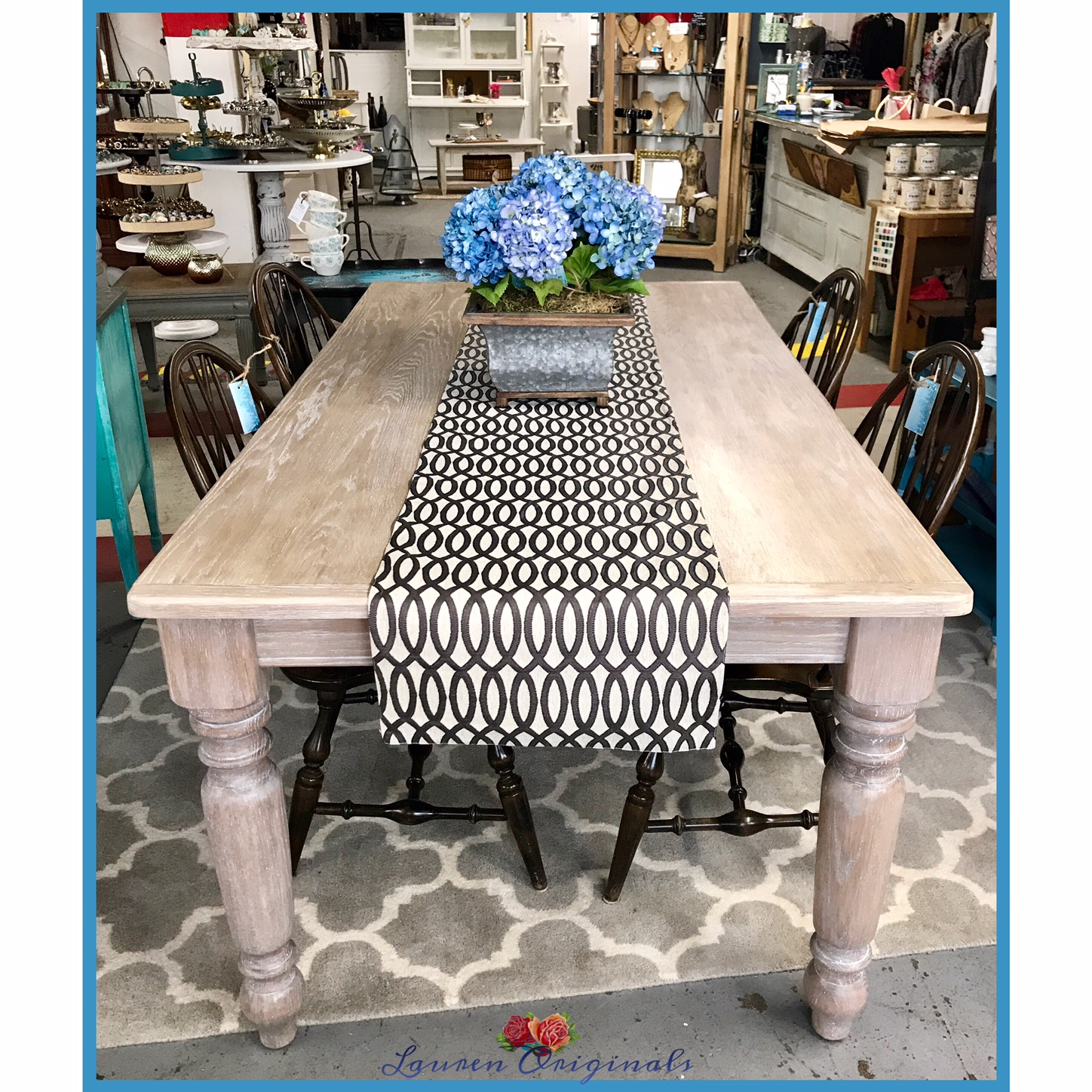 Solid Oak Farm Table