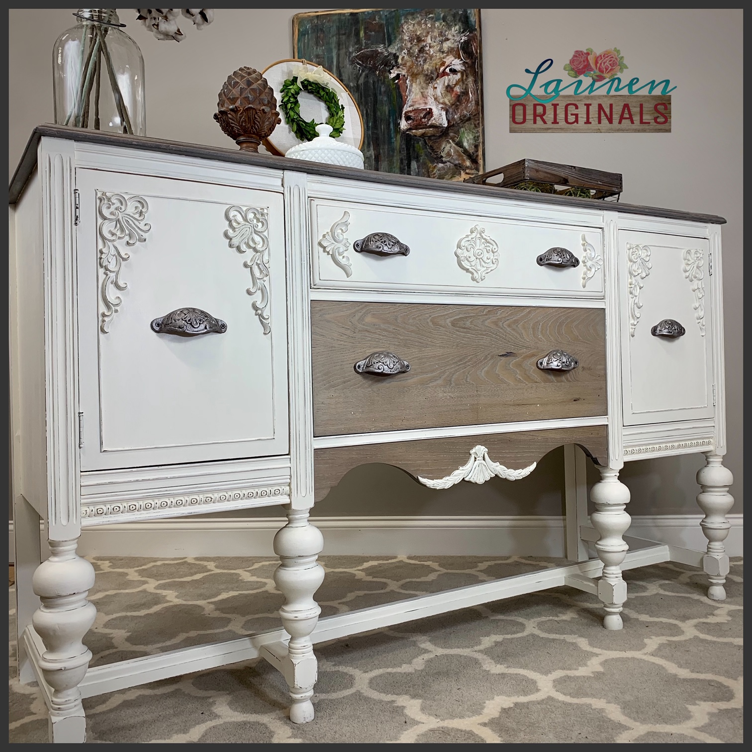 Modern Farmhouse Buffet Sideboard