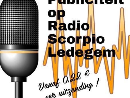 Publiciteit op Radio Scorpio