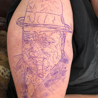 Winston Churchill Stencil Tattoo Project