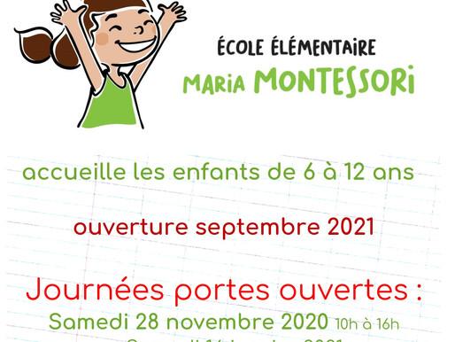 Portes Ouvertes Ecole Elémentaire Maria Montessori 6-12 ans A.M.I.