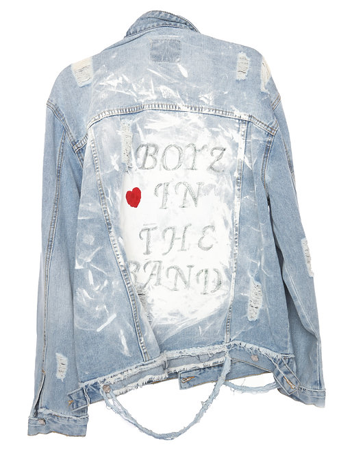 BOYZ IN THE BAND - custom jean jacket