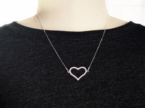 Diamond-like-heart necklace