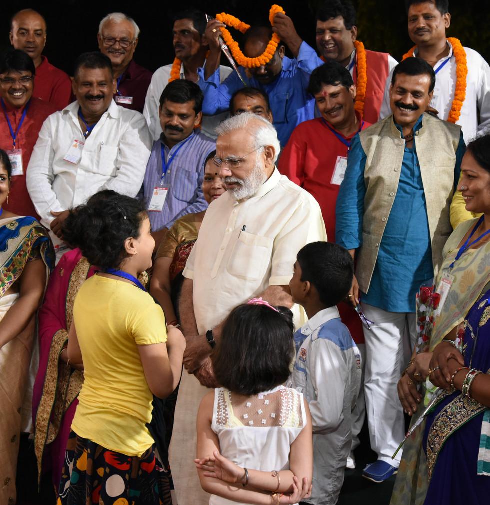 PM interacts with Varanasi Corporators.J
