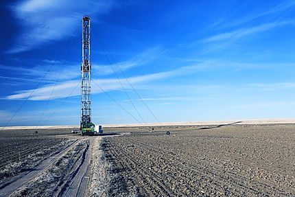 Oil well, drilling, Lonbaugh and Riggs