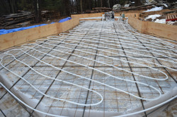 Solar thermal into slab