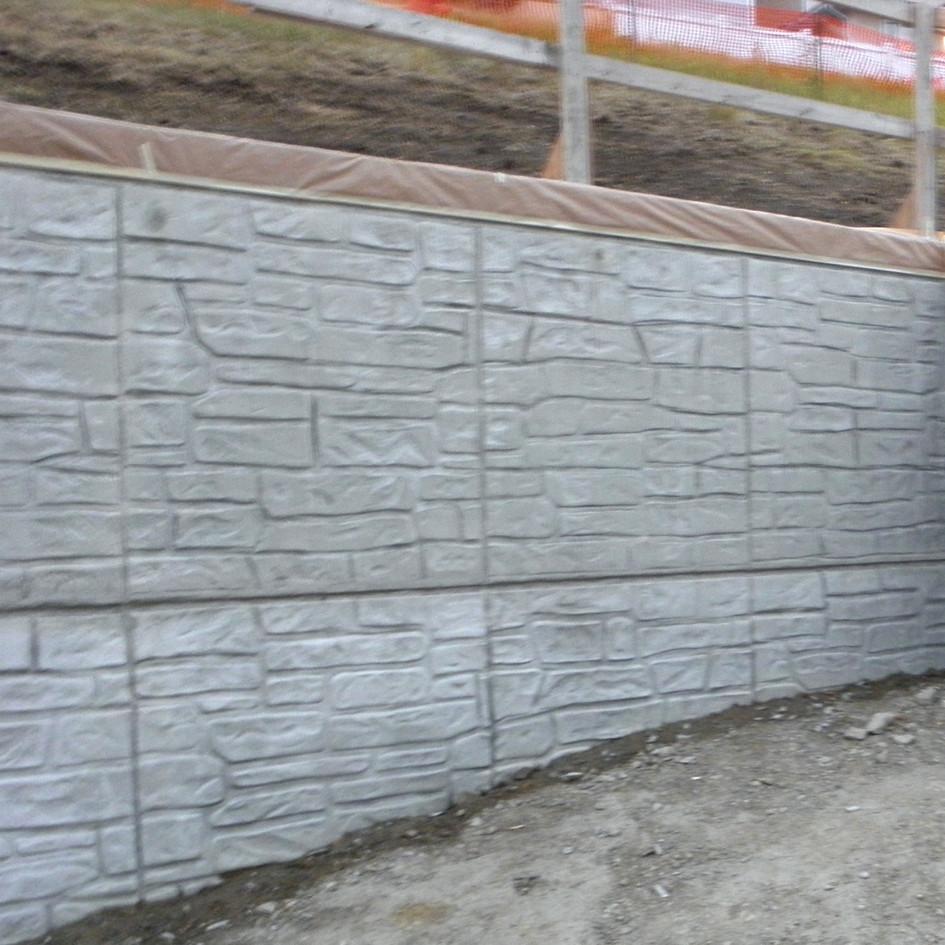 Specialized Stamp Finish Shotcrete Wall