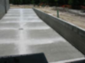 Commercial site works, concrete, drainage