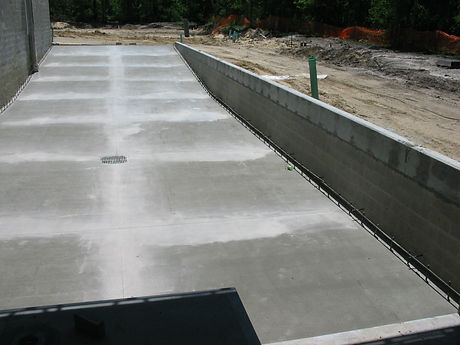 Commercial site works, concrete, drainage