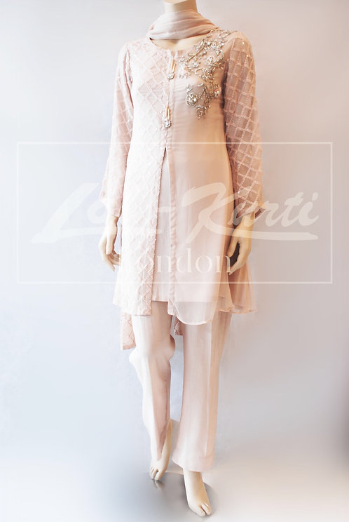 Nude Ethereal Trouser Suit