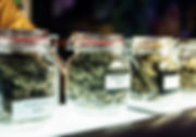 medical marijuana on a dispensary shelf