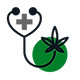Marijuana Stethoscope Icon