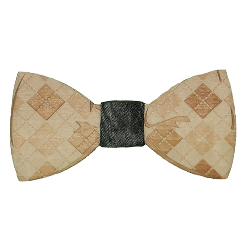 Papillon in Legno Magnetic Effetto Cucito Jeans Grey