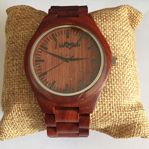 Orologio in Legno Full Wood Red