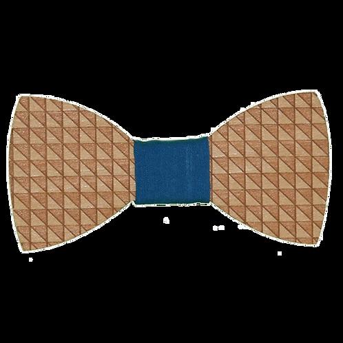 Papillon in Legno Magentic Triangle Blu Jeans