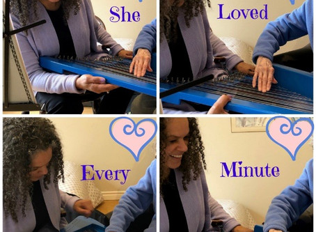 A Clinical Musician Sharing Her Harp