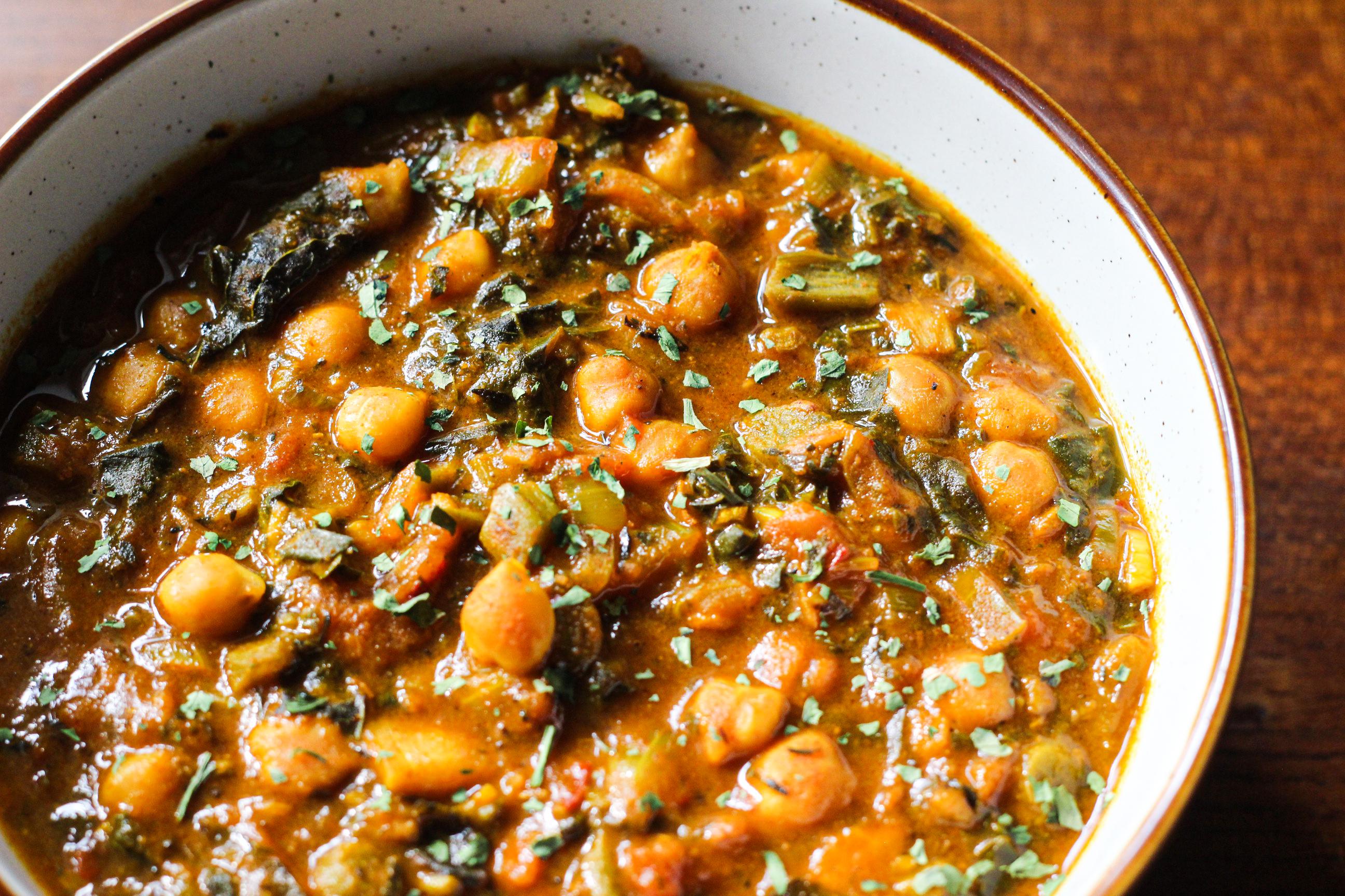Chickpea & Callaloo Curry