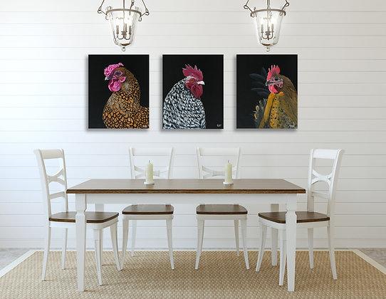 3 Hens - 3 x Fine Art Prints