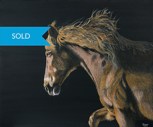 SOLD - Stallion- Original Arylic Painting