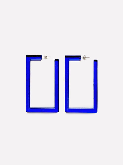 Square Earring Blue