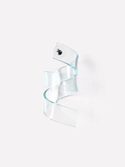 The Ribbon Shape 5  - Green [Single Earring]