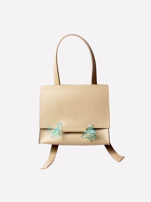 Children of The Sea Rect Multiway Bag in Sand/Green
