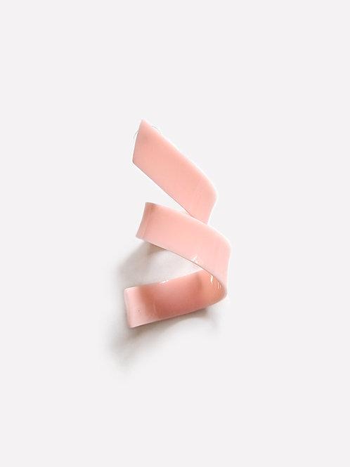 The Ribbon Shape 5  - Pink [Single Earring]