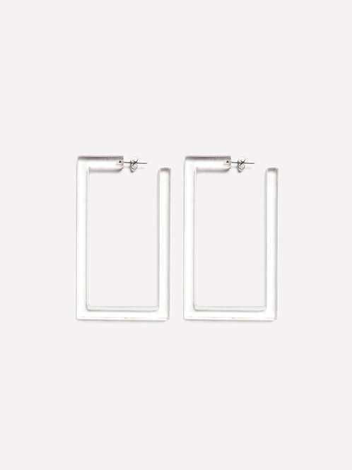 Square Earring Clear