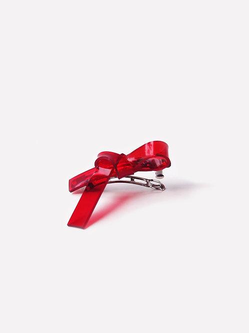 The Ribbon Hair Clip - Red