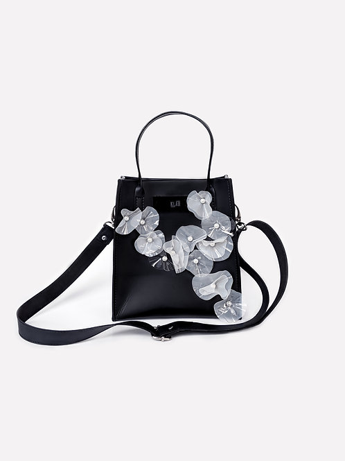 Square Mini Bag Children of The Sea Limited Edition in Black/Pearl White