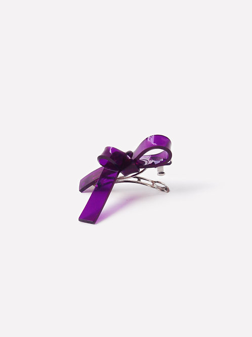The Ribbon Hair Clip - Purple