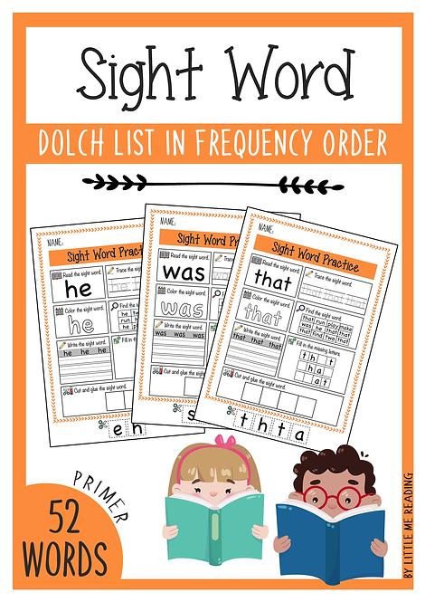 Dolch Sight Word Worksheet NO-PREP Packet (Primer)