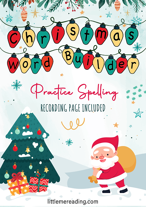 Christmas Light Bulb Letter Word Builder (sight word, phonics, spelling, order)