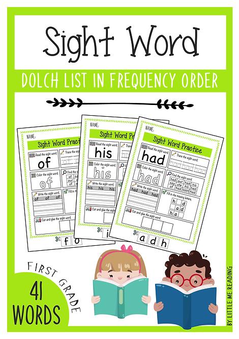 Dolch Sight Word Worksheet No-PREP Packet (1st Grade)