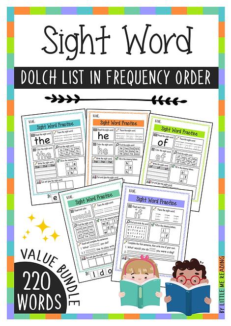 Dolch Sight Word Worksheet No-PREP Packet (VALUE BUNDLE)
