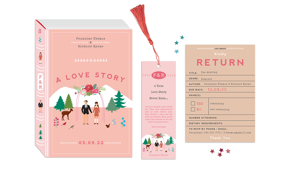 A Love Story Book Theme Wedding Invitati