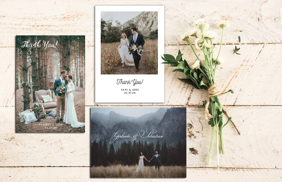 WEDDING STATIONERY: THANK YOU CARDS