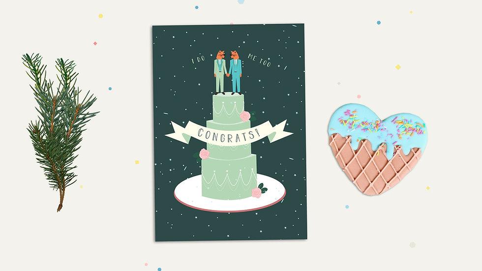 Gay Wedding LGBTQ Greeting Card