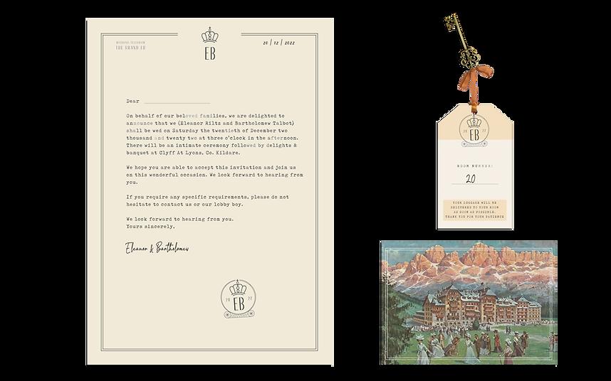 Grand Budapest Wes Anderson Wedding Invitations Emerald Heart Ireland