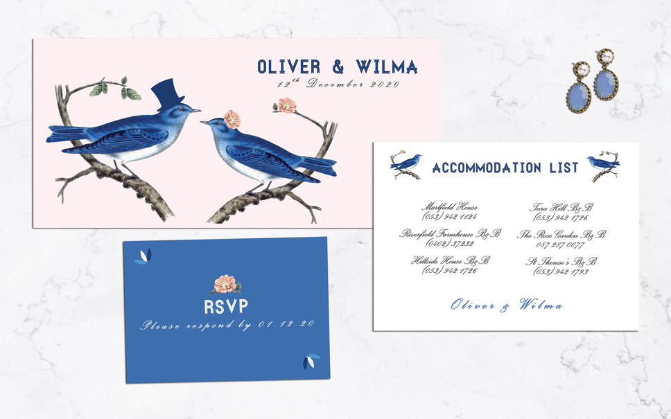FEATURED WEDDING INVITATION: BLUE JAY WAY