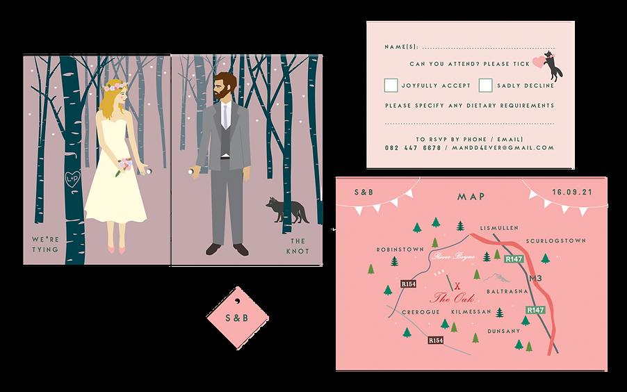 Woodland Romance Wedding Invitation Irel