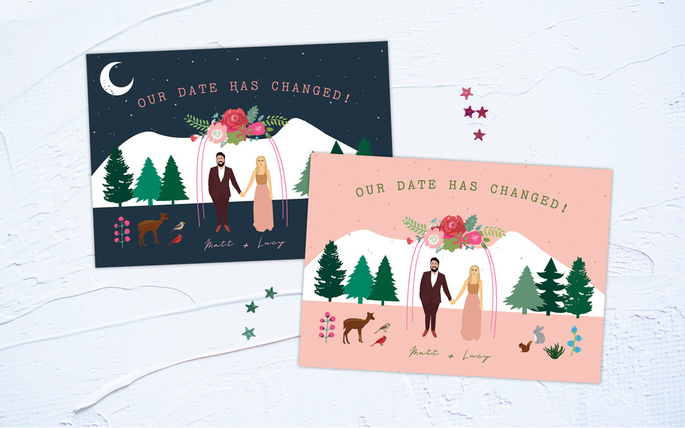COVID INVITATIONS: CHANGE THE DATE CARDS