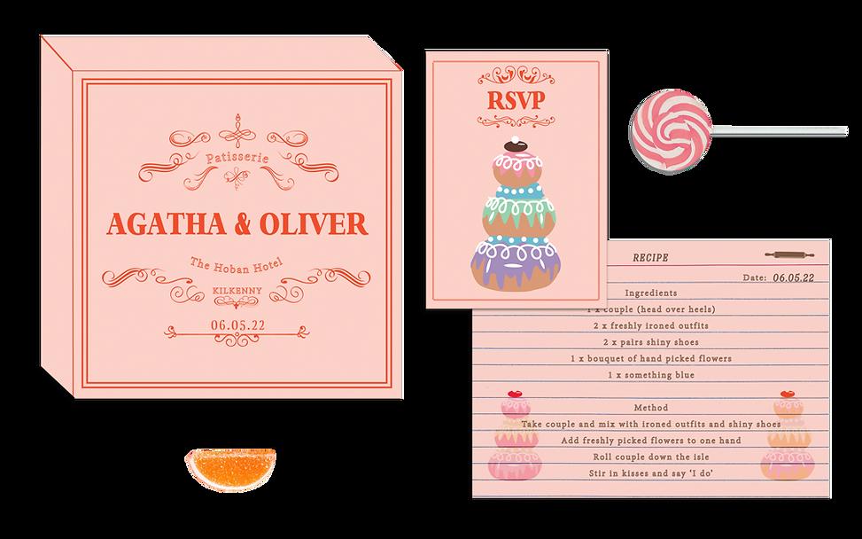 Courtesan Au Chocolat Emerald Heart Wedding Invitation.png