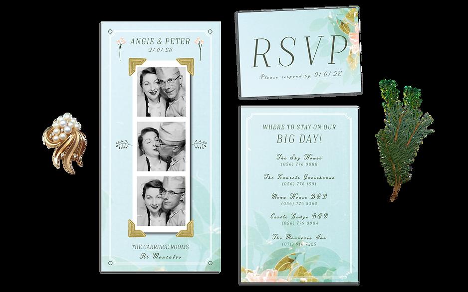 Photobooth Wedding Vintage Invitation Fu